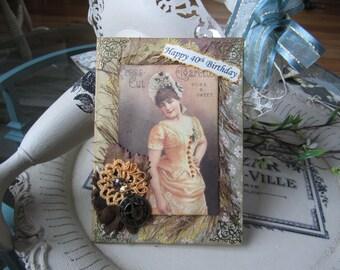 40th Birthday Card - Happy 40th Card - Handmade Birthday Card - Best Handmade Card