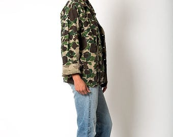 35% OFF SPRING SALE The Vintage Cotton Duck Camo Military Army Utility Jacket