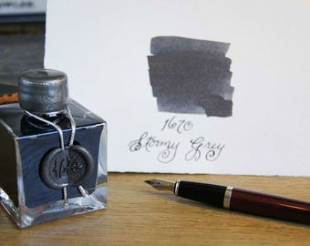 J. Herbin 1670 Dip & Fountain Pen Ink Bottle - Stormy Grey