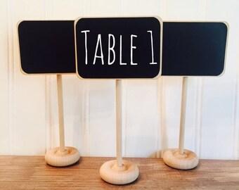 Holiday SALE- 4 Mini Chalkboard Table Stands, Buffet Labels, Chalkboard Signs, Wedding Chalkboards, Chalkboard Label Stands, Chalkboard Food