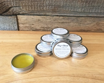 WOOD BEAD BALM - Exclusive Organic Food Grade Wood Polish for Teething Items. Made from Organic Bees Wax and Organic Olive Oil