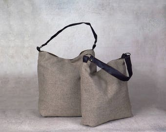 gray purse - over the shoulder purse - over shoulder bag - canvas shoulder bag - canvas hobo bag - womens shoulder bag - womens handbags