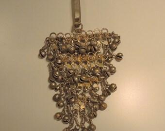 Silver Kuchi Tribal Necklace Ornament, Large Kuchi Ornament, Afghani Tribal Pendant