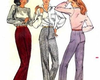 Ladies' Slacks Pattern - Butterick 3299 - Vintage Sewing Pattern, Size 18