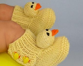 50% OFF SALE Digital pdf file Knitting Pattern -Baby Chick Booties (Boots) knitting pattern- MADMONKEYKNITS
