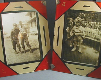Pair Art Deco Picture Frames 4X5