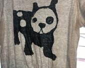Super Soft Thin Worn Trashed Bull Dog Tee Paper Tisse Melange Marled French Bulldog American Prada Marni T Shirt Xs S M Spot Spuds Puppy Poo