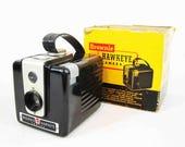 Vintage Kodak Brownie Hawkeye Camera with Original Box. Circa