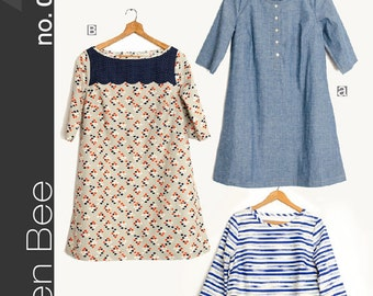 The Pearl Shift Dress Sewing Pattern by Green Bee