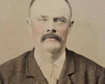 Tintype Photo Of Older Man With Tinted Cheeks from Rustysecrets