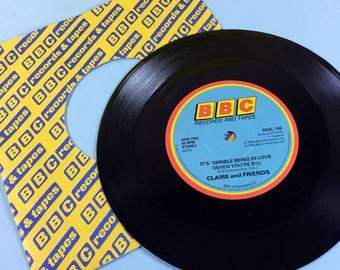 It's 'Orrible Being In Love (When You're 8 1/2) - Claire And Friends - 1980s - Vinyl - Vintage Vinyl - 45rpm Single - Record