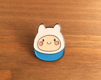 "Enamel Pin, Finn the Human, 1"" inch, Lapel Pin, Adventure Time"