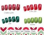 Single Color Fake Nails, Holiday Glitter Press On Nails, False Nails, Square Fake Nails, Medium Nails, Acrylic Nail, Glitter Nails, DIY Nail