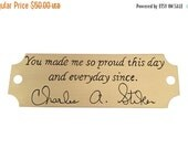 20% OFF SALE Handwriting memorial signature engraved brass plaque that can be mounted onto a picture frame