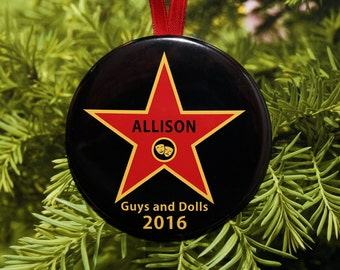 Theater Star Christmas Ornament - Customized - Actor Actress Performer - C179