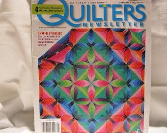 Quilters Newsletter magazine 2001, 5 + quilt patterns, learn to quilt, how to quilt,quilt patterns