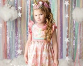 Girls Unicorn Dress- Magic Unicorns- from Melon Monkeys