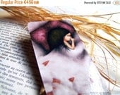 Spring cleaning sale Counting sheeps - Laminated bookmark