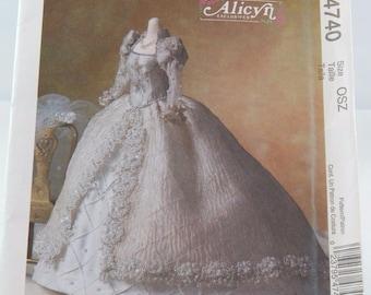 """McCall's 4740 Bridal Dress Veil Wedding Gown Pattern Fashion Doll 11 1/2""""  by Alicyn   Uncut New"""