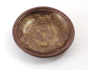 Goddess Hecate Hekate Wheel Offering Bowl Handmade Pottery