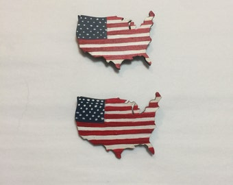 USA country flag pin or magnet