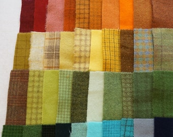SALE Hand Dyed Felted Wool Scrap Bundle 1200 perfect for Rug Hooking, Applique, Quilting, and Sewing by Quilting Acres