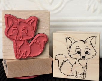 Foxy rubber stamp from oldislandstamps