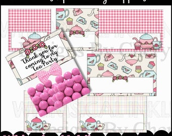 Friendship Tea Bag Toppers - Immediate Download