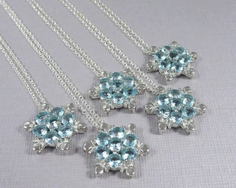 Personalized Sterling Silver Snowflake Necklace