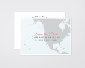 The 'Tansey' Destination Travel Save the Date Announcement (Printable)