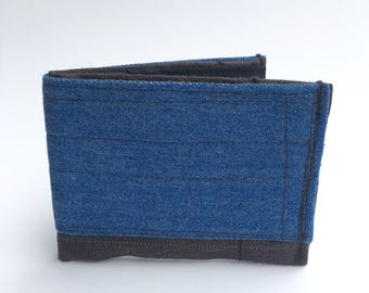 Bifold wallet, men's wallet, fabric wallets, recycled wallet, eco friendly wallet, vegan wallets