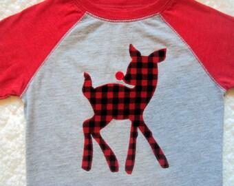 Boys Reindeer Shirt- Boys Christmas Shirt- Boys Rudolph the Reindeer Shirt- Toddler Christmas Shirt