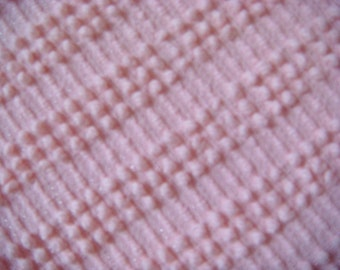 Morgan Jones Baby Pink with White Pearls Vintage Cotton Chenille Bedspread Fabric 12 x 24 inches