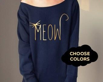 Cat Sweater Custom Off Shoulder Off Shoulder Sweater Cozy Comfy Sweater Cat Lover Sweatshirt Cats Sweatshirt Slouchy Sweatshirt Boho Sweater