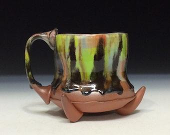 Pointy foot wild colorful fun mug