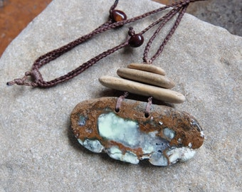 Large Lemon Chrysoprase, Limestone jewelry  - organic, unique, natural jeweller - handmade from scratch by NaturesArtMelbourne