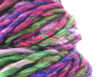 Hand Spun Art Yarn. Knitting Crochet Weaving Wool