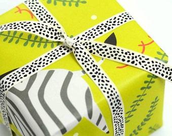 Zebra Gift Wrap, Gift Wrap Sheets, Zoo Animals Wrapping Paper, Animal Gift Wrap, Zebra Present Paper, Gift Wrapping, Zebra Stationery