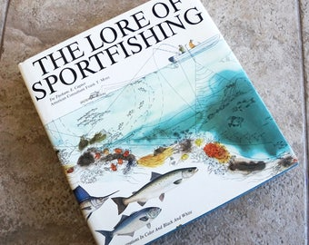 Vintage Book The Lore of Sportfishing Coffee Table Book Hardcover Illustrated