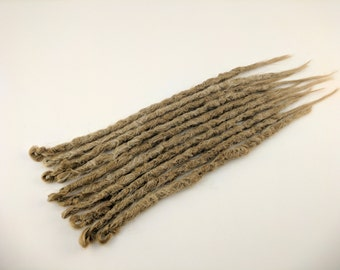10 Medium Strawberry Blonde Synthetic dreads, dreadlocks, dreads, synthetic dreadlocks, dreadlock extensions, hair extensions, knotty dreads