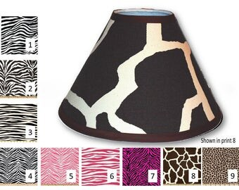 Giraffe Lampshade, Zebra Lampshade, Leopard Lampshade, Animal lampshade, animal print lampshade, zebra lamp shade, nursery lampshade