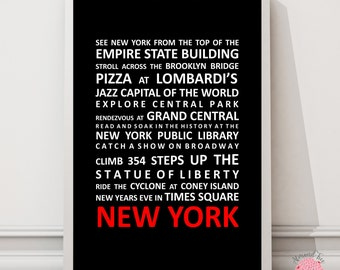 New York, New York Bus Roll Wall Art Print