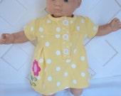 Bitty Baby Girl cute 3 pc.  yellow dress with  Socks and a headband     doll clothes