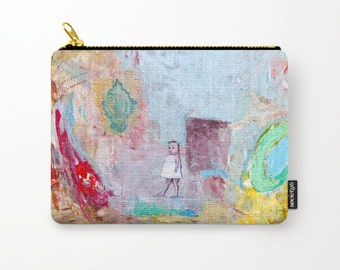 Cosmetic bag, toiletry storage, makeup bag, beauty Pouch, pencil bag girl, colourful purse, anagonzalezart