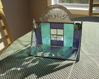 Stained Glass Candle Holder Center Piece