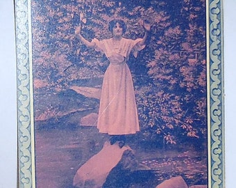 Old Postcard 1910 / Lady in Distress / Bamforth Publishing / Free Shipping