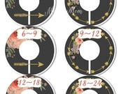 HUGE SALE Closet Dividers Organizers Baby Girl Shower Gift Nursery Decor Floral Tribal Arrow Faux Gold Glitter Tribal Baby Clothes