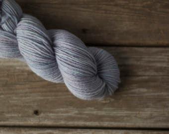 Hand Dyed Yarn, Wool Yarn, Yarn, Wool, Worsted Weight, 100% Wool Yarn, Knitting, Crochet, Kettle Dyed, Tonal, Indie Dyed, Lilac, Purple