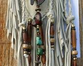 Native Spirit Bear Leather Medicine Bag Keepsake Pouch ~ Jill Claire