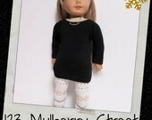 "18"" Doll Clothes, AG doll clothes- Black  Sweater /Gold Nordic Sparkle leggings/Gold Necklace  fits 18"" dolls like American Girl, Maplelea"
